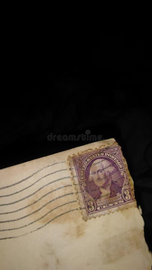 Ładny stary istny stary 1917 usa znaczek pocztowy fotografia royalty free