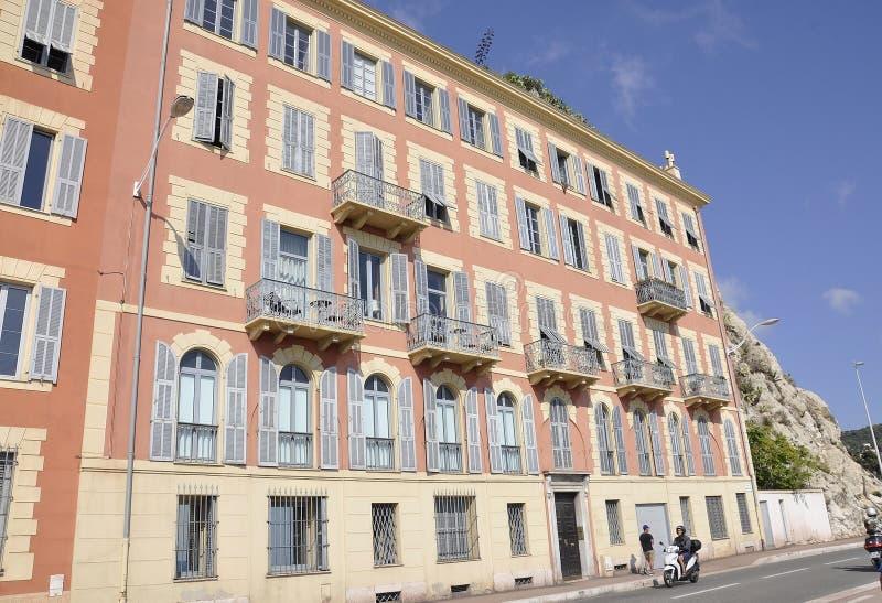Ładny, 5th Wrzesień: Historyczny budynek od Quay Lunel port Ładny zdjęcia royalty free