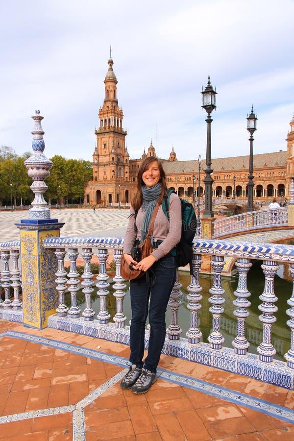 Ładny turysta w Seville zdjęcia royalty free