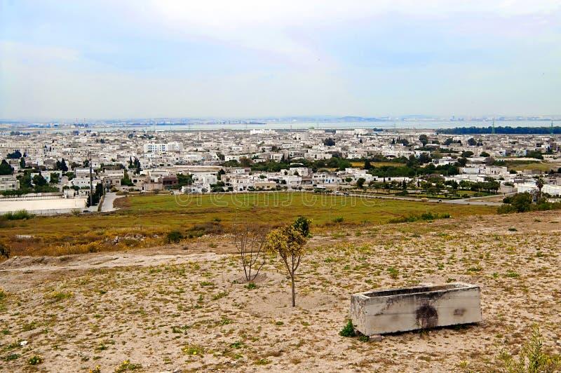 Ładny widok Cartage miasto w Tunezja zdjęcia stock