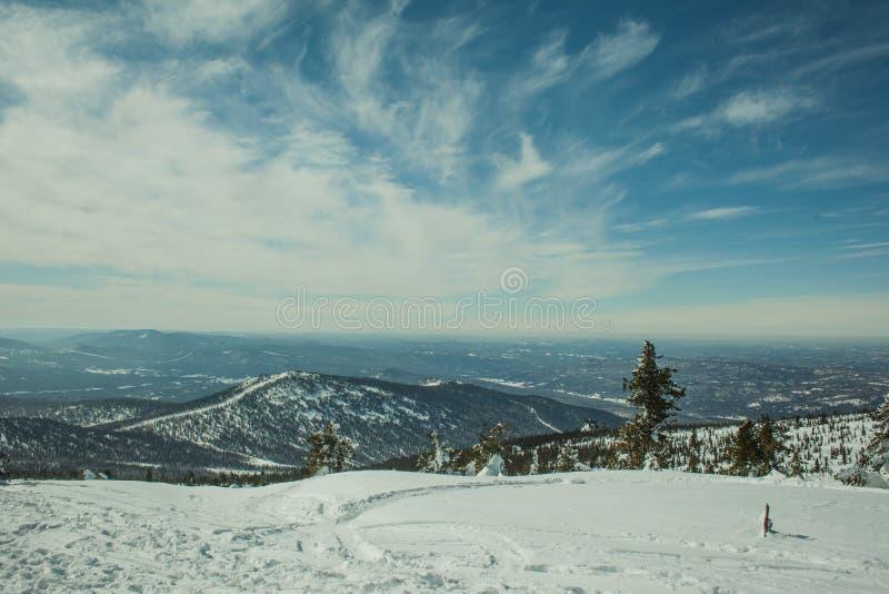 Ładny widok chmur pierzastych chmury obraz royalty free