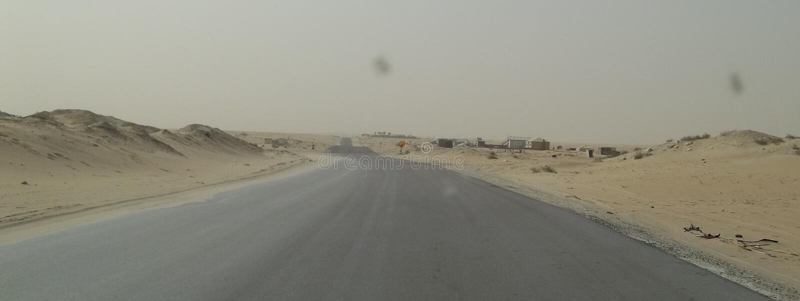 Ładny widok W saudyjczyku - arabska pustynia zdjęcie stock