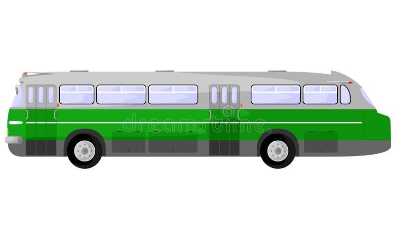 Ładny zielony autobus ilustracja wektor