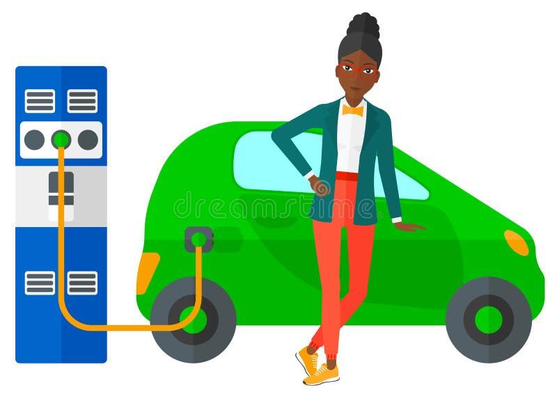 Ładować elektryczny samochód royalty ilustracja