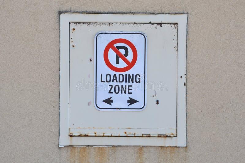 Ładowniczej strefy znak zdjęcie stock