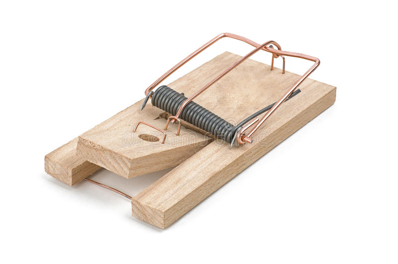 Ładowny mousetrap fotografia stock