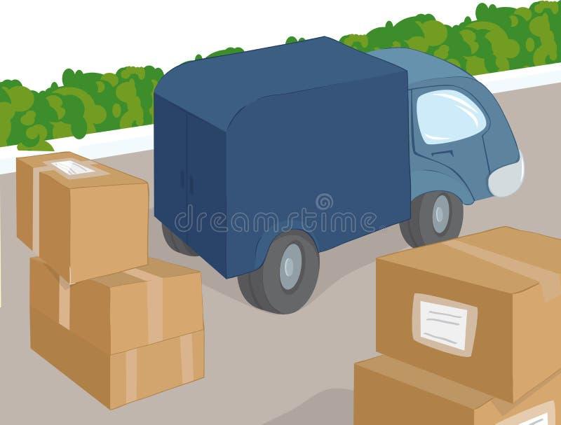 ładunek ciężarówka ilustracji