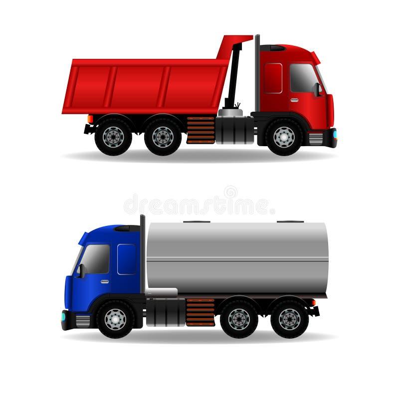 Ładunek ciężarówki odizolowywać na bielu obraz royalty free