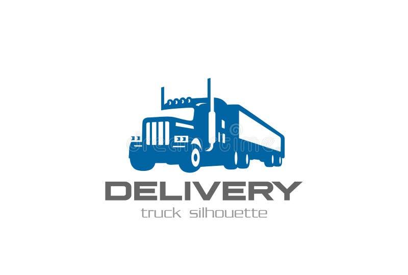 Ładunek Doręczeniowej ciężarówki loga projekta Logistycznie Ciężki ilustracja wektor
