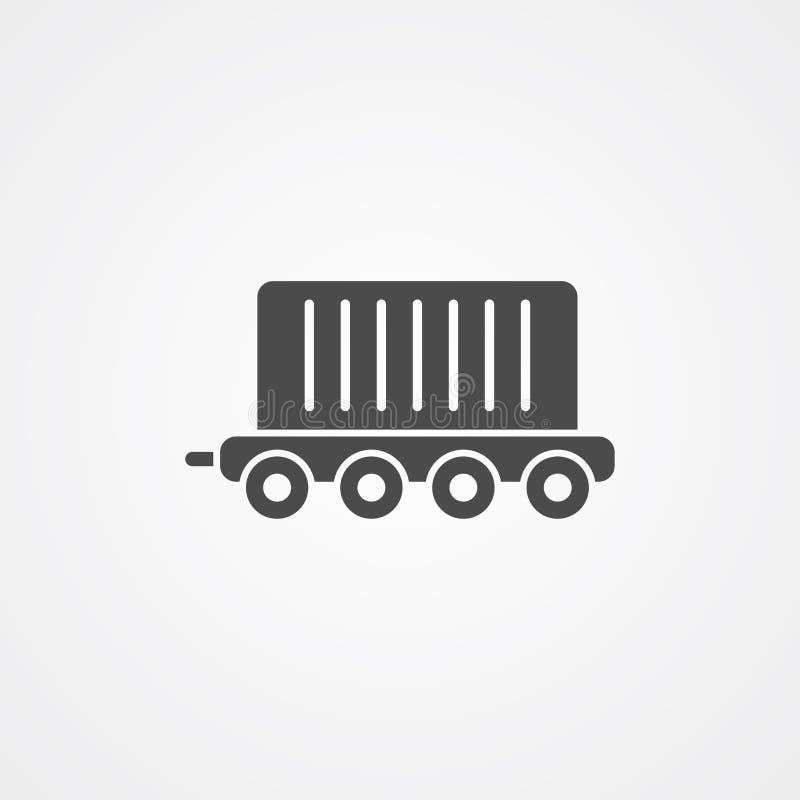 Ładunek ikony znaka taborowy wektorowy symbol ilustracji