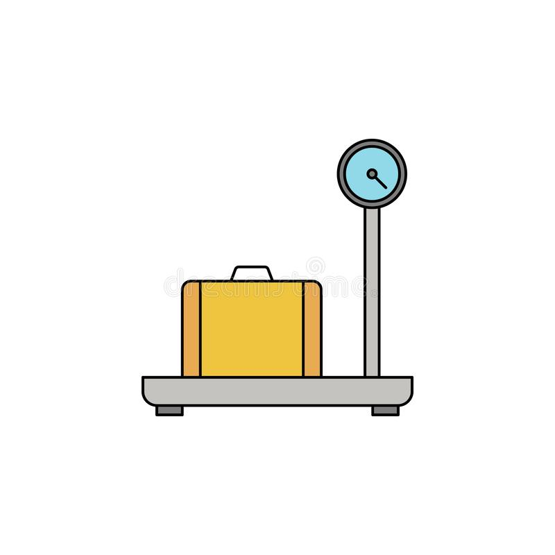 ładunek skal konturu koloru ikona royalty ilustracja