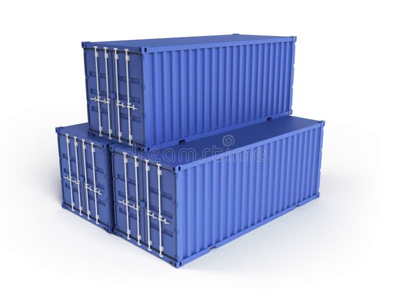 ładunków błękitny zbiorniki trzy ilustracja wektor