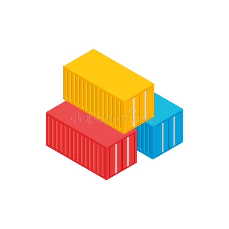 Ładunków zbiorników ikona, isometric 3d styl