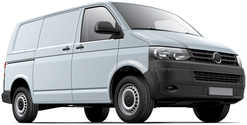 Ładunku biały samochód dostawczy ilustracja wektor