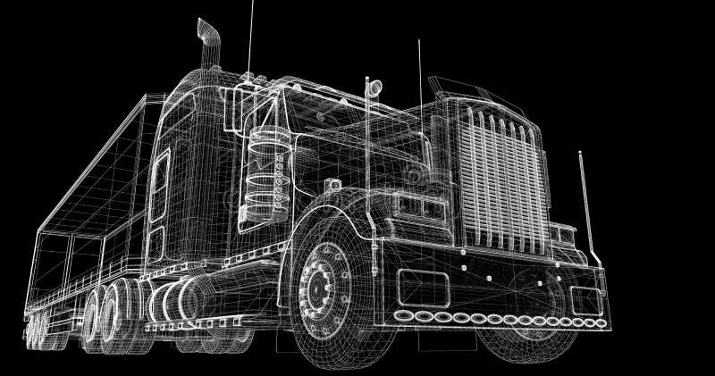 Ładunku doręczeniowy pojazd ilustracja wektor