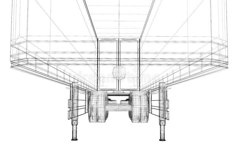 Ładunku doręczeniowy pojazd ilustracji