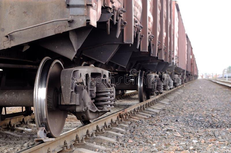 ładunku frachtowy linii kolejowej pociąg obraz stock