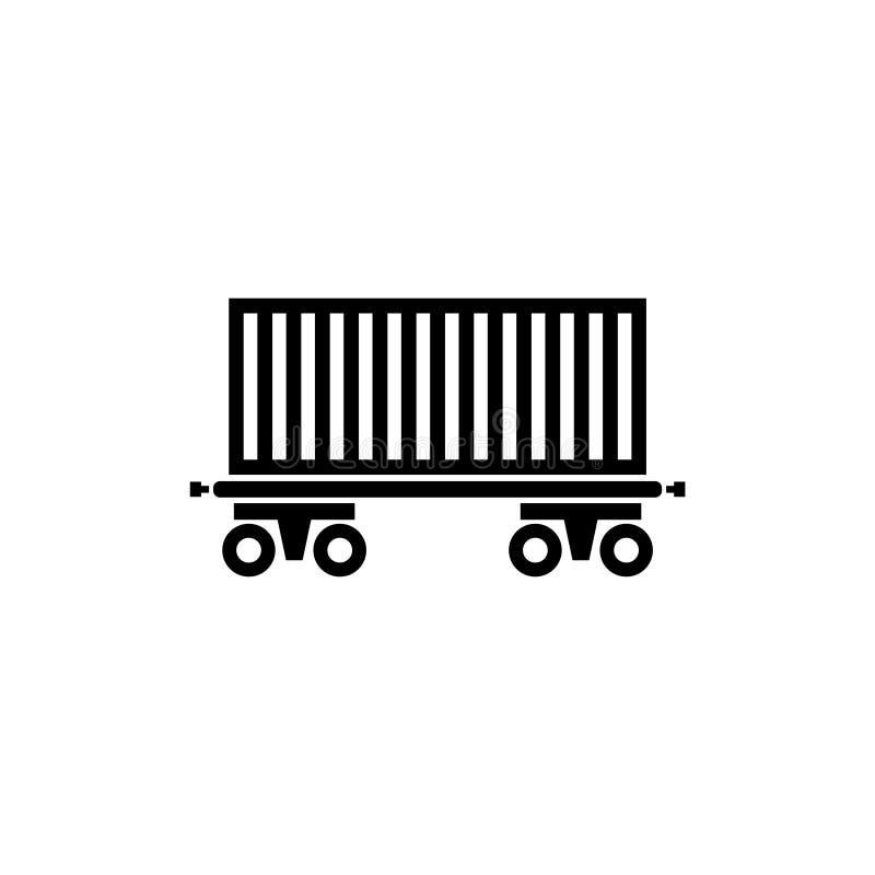 Ładunku furgon, Sztachetowego samochodu Płaska Wektorowa ikona royalty ilustracja