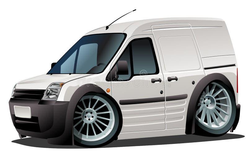ładunku kreskówki doręczeniowego samochód dostawczy wektor ilustracja wektor