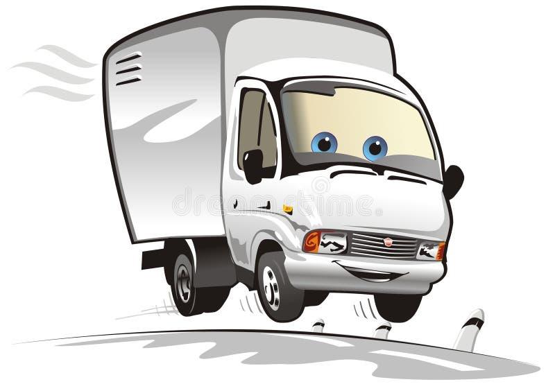ładunku kreskówki doręczeniowej ciężarówki wektor royalty ilustracja