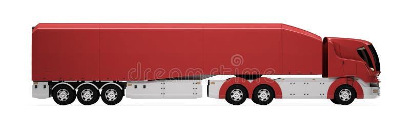 ładunku pojęcia przyszłość odizolowywający ciężarowy widok ilustracja wektor