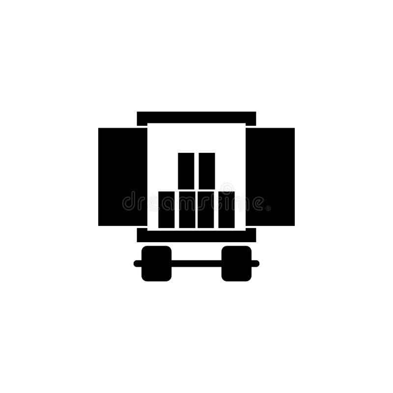 ładunku przedział samochód z ładunek ikoną Element logistyki ikona Premii ilości graficznego projekta ikona Znaki co i symbole ilustracja wektor