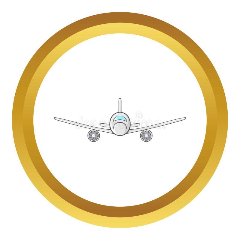 Ładunku samolotu ikona royalty ilustracja
