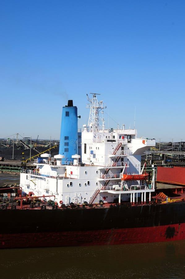 ładunku węgla statek obrazy stock