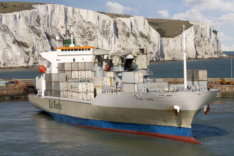 ładunku zbiornika statek zdjęcia stock