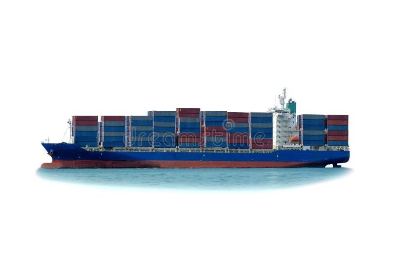 Ładunku zbiornika statek w morzu obraz stock