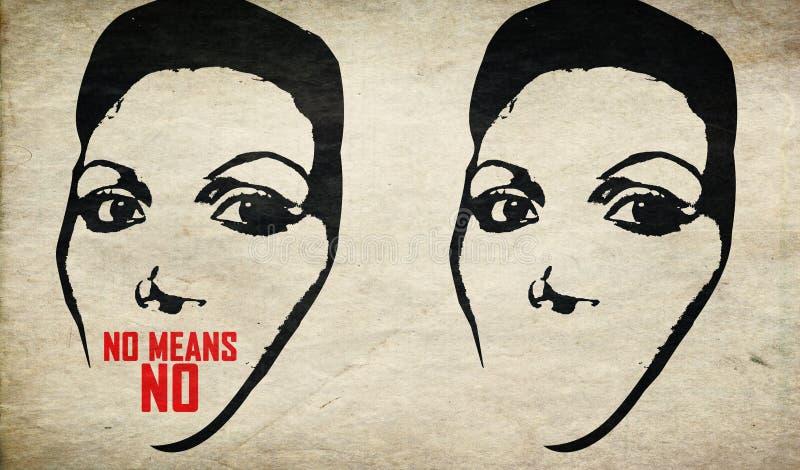Łama ciszy przerwy przemoc przeciw kobiecie zdjęcia royalty free