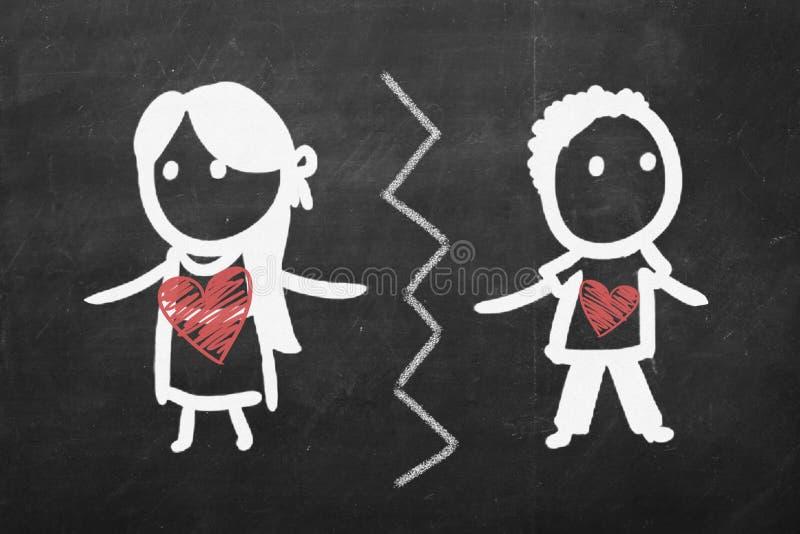 Łama up pojęcie Dziewczyna i chłopiec kreślimy patroszonego na chalkboard zdjęcie royalty free