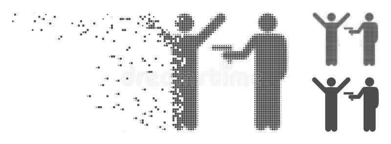Łamająca piksla Halftone przestępstwa rabunku ikona royalty ilustracja