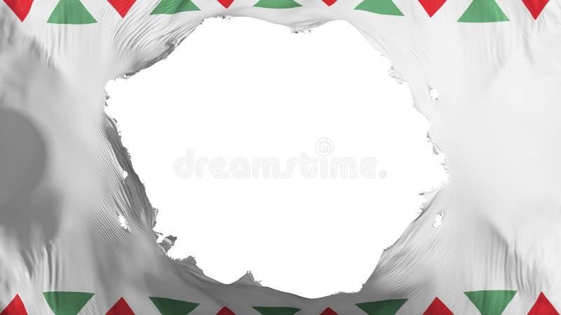Łamana Budapest flaga ilustracja wektor