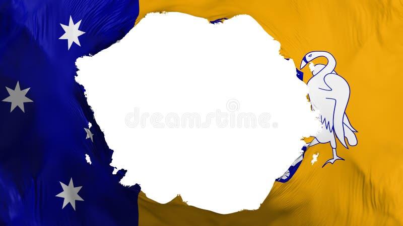 Łamana Canberra flaga ilustracja wektor