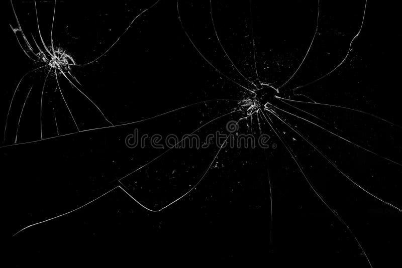 Łamana czarna szklana tekstura obrazy royalty free