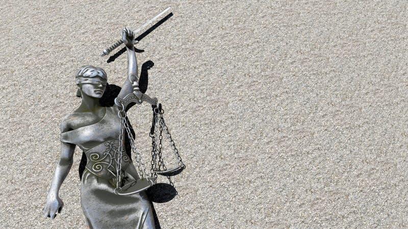 Łamana dama sprawiedliwości 3d rendering obraz stock