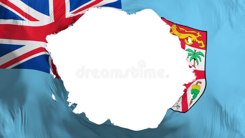 Łamana Fiji flaga ilustracji