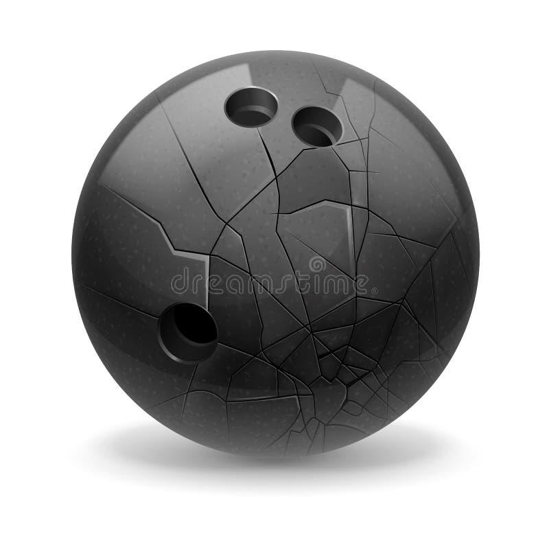 Łamana piłka ilustracji