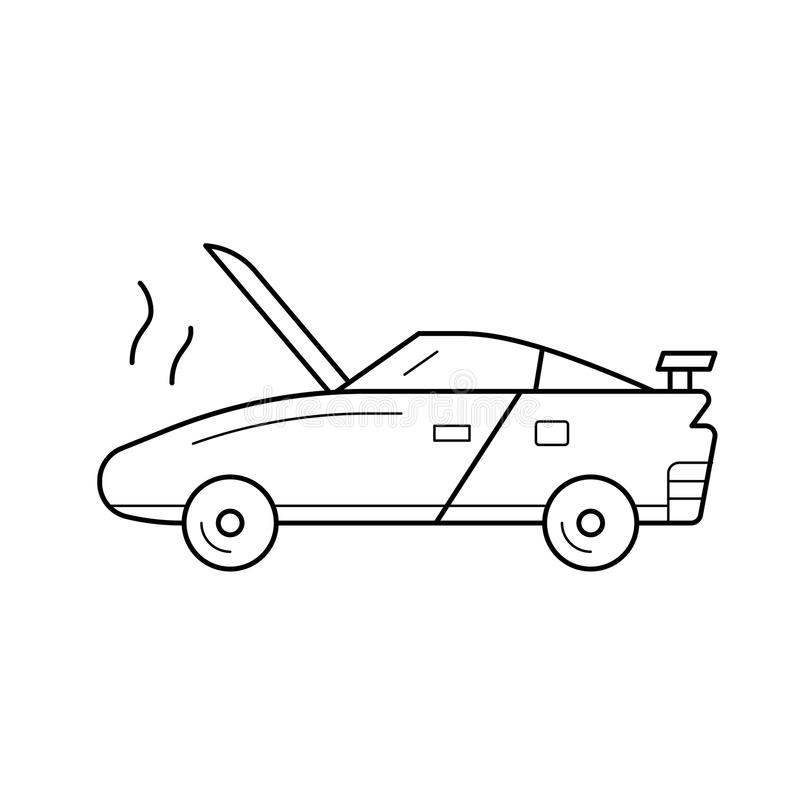 Łamana samochód linii ikona ilustracji