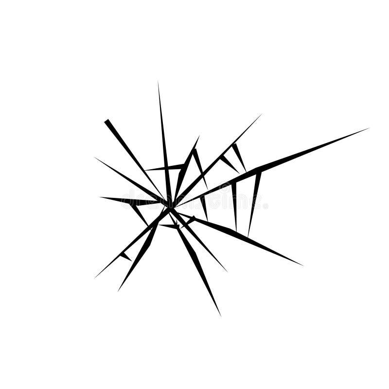 Łamana szklana ikona, ilustracja ilustracji