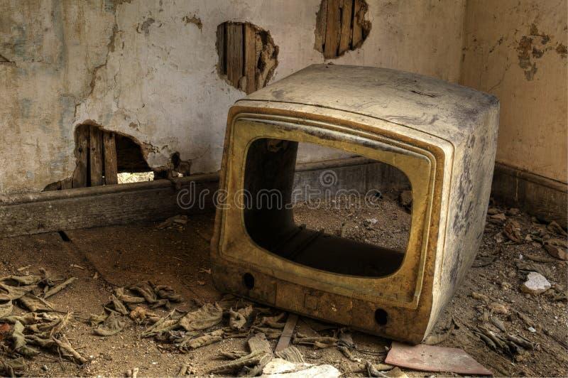 łamana telewizja zdjęcie stock