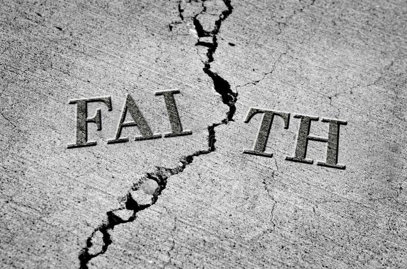 Łamana wiara z Krakingowym cementem ilustracji