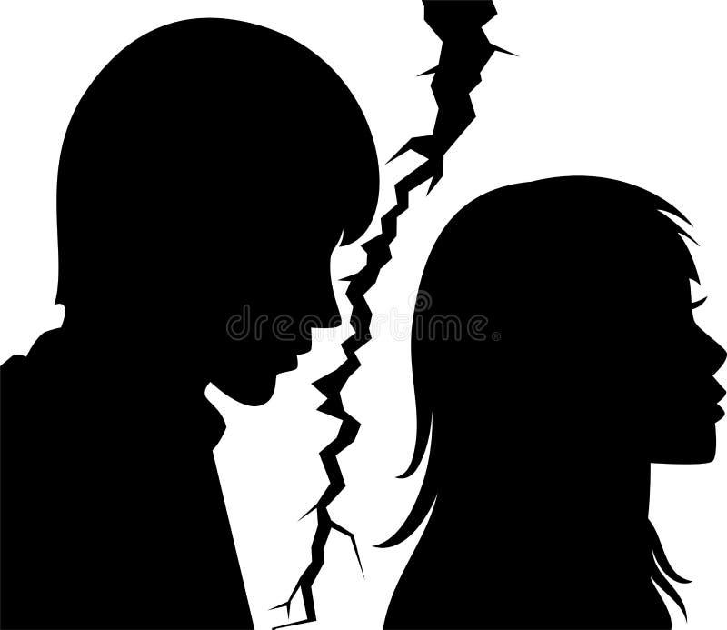 łamani mężczyzna związek kobiety potomstwa royalty ilustracja