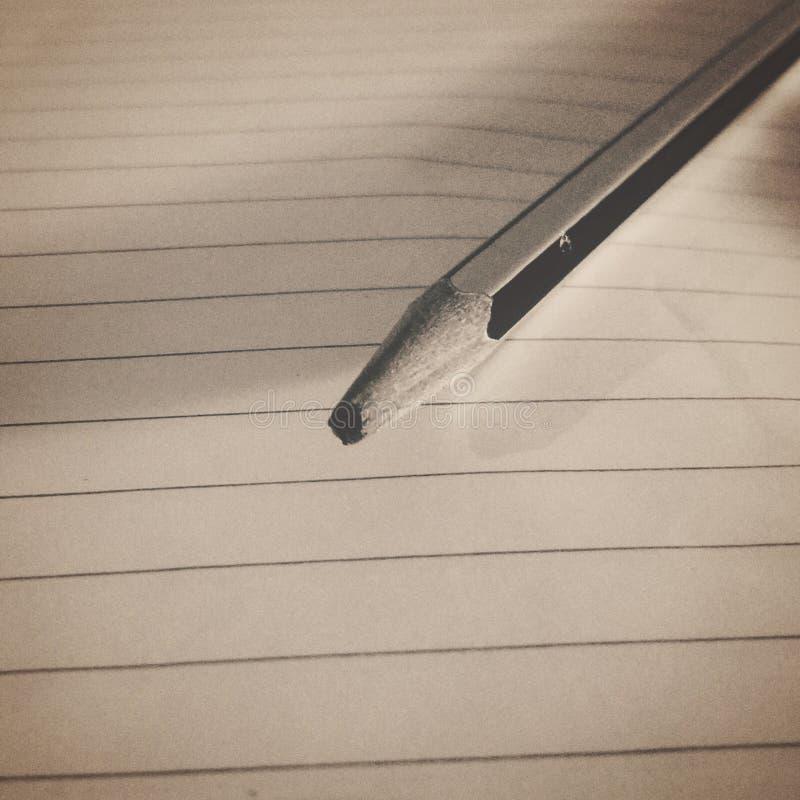 Łamani ołówki, wymazujący sen zdjęcie royalty free
