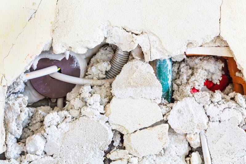 Łamany brickwork zdjęcie stock
