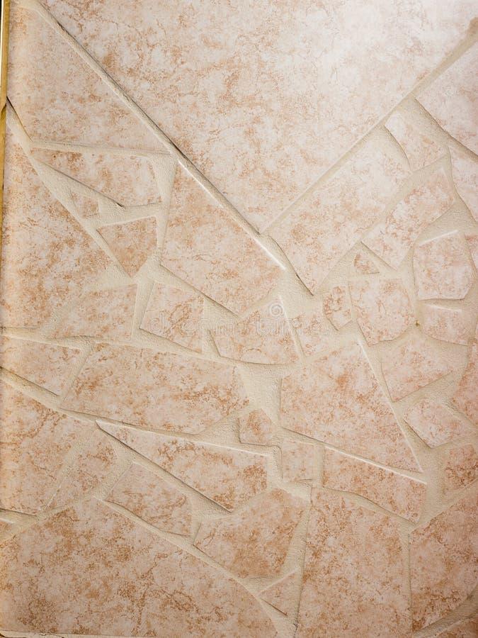 Łamany Ceramicznej płytki tło zdjęcie royalty free