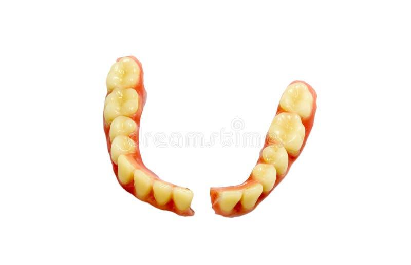 Łamany denture zdjęcia royalty free