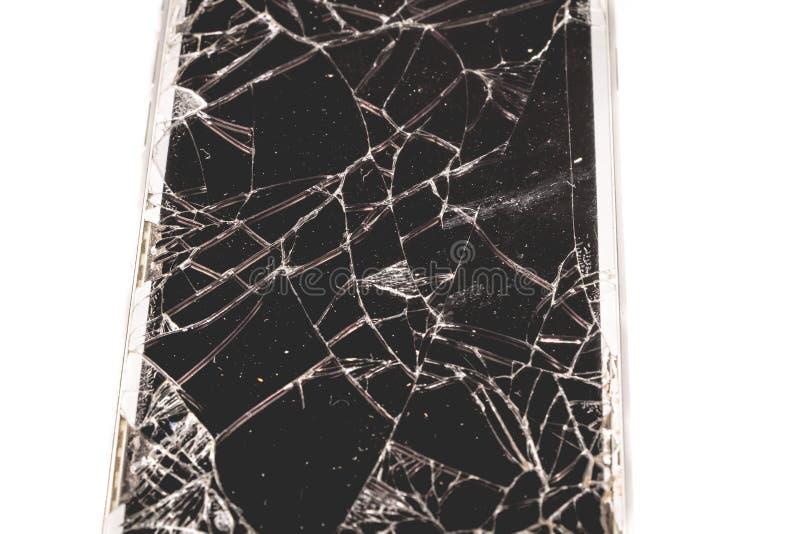 Łamany iPhone 6S rozwijał firmą Apple Inc zdjęcie stock