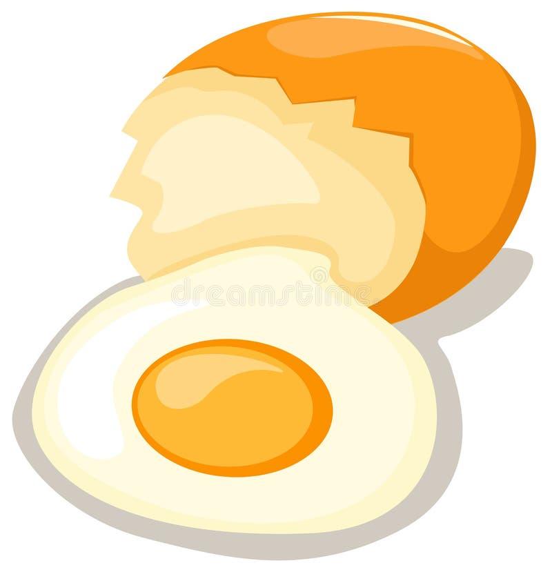 łamany jajko ilustracja wektor